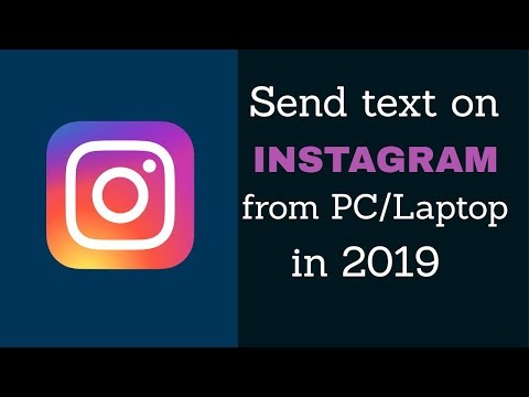 HOW TO TEXT ON INSTAGRAM ON PC - How to Post Photos on Instagram