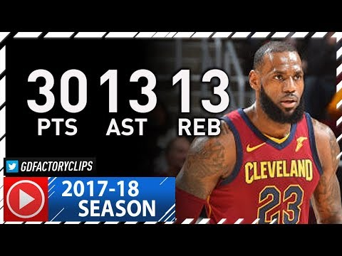 LeBron James Triple-Double Full Highlights vs Sixers (2017.12.09) - 30 Pts, 13 Ast, 13 Reb, SICK!