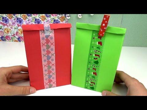 Geschenktüten / Weihnachts Geschenk Tüten / Geschenk Verpackung DIY ganz einfach selbstgemacht