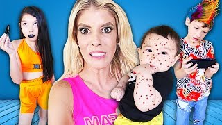 Babysitting SIBLINGS as a Mom for 24 Hours! (Parents secretly SPY w/ hidden camera)| Rebecca Zamolo