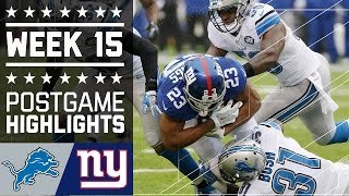 Lions vs. Giants   NFL Week 15 Game Highlights