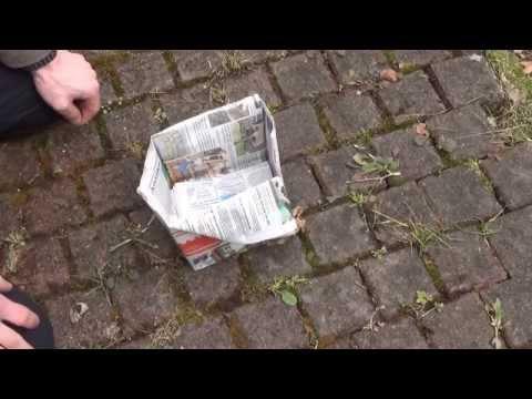 Selbstversorger Tipps  - Biotüte -  aus Altpapier