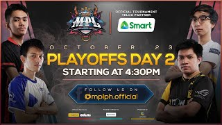 (English) LIVE NOW: MPL-PH Season 6 Playoffs Day 2