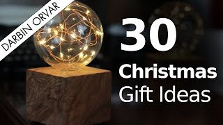 30 Ideas For Making Christmas Presents // Woodworking