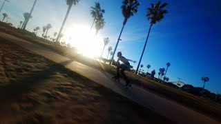 Roller Skating Mission Beach   Squirt Cine Whoop FPV Drone