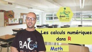 TCS international :  les calculs numeriques dans R