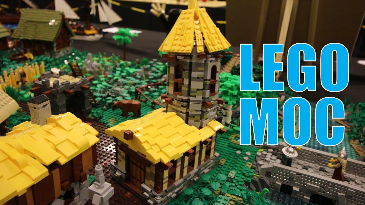 LEGO Layout Medieval Settlers   Skaerbaek Fan Weekend 2019