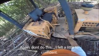 Working 1980 Case 450 dozer bulldozer logging