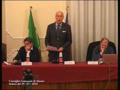 ALASSIO : CONSIGLIO COMUNALE DI GIOVEDI' 29 NOVEMBRE 2018