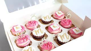 How To Make Bridal Shower / Hen Night Cupcakes With Fondant Toppers Tutorial