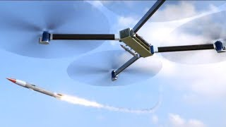 World's Largest Military Drone With Missile Launcher & Machine Gun