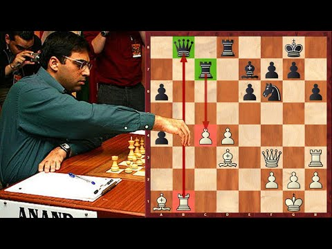 With A Brilliant Combination Anand Turns His Pawn Into A Hero