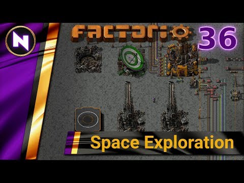 Factorio 0.17 Space Exploration #36 NUCLEAR POWER