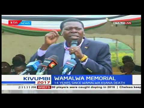 Kijana Wamalwa memorial service in Kitale