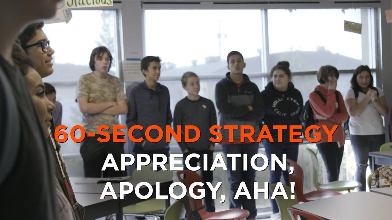 60-Second Strategy: Appreciation, Apology, Aha!