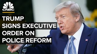 President Donald Trump signs executive order on police reform — 6/16/2020