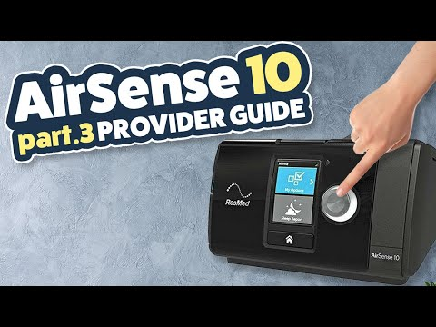 ResMed AirSense 10 Review / Tutorial Part 3 of 3 - Change Pressure