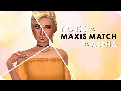 Alpha V S  Maxis Match    The Sims 4 CAS + CC LINKS