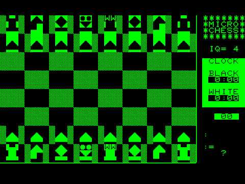 Commodore PET/CBM Game: Microchess (1978 Micro-Ware)