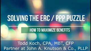 Solving the ERC / PPP Puzzle: And Maximize Your Benefits