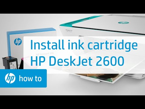 How To Install Setup Ink Cartridges in the HP Deskjet 2600 All-in-One Printer Series