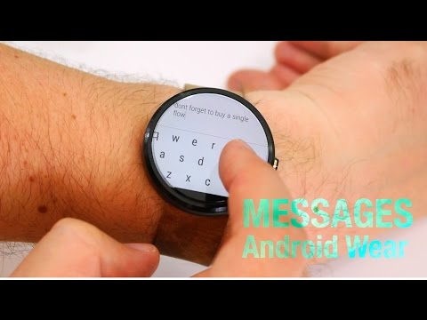Messages for Android Wear: Hands On with a fiddly onscreen keyboard