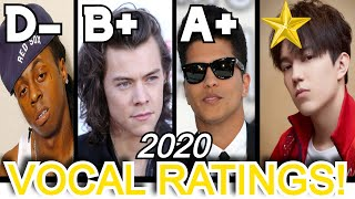 MALE SINGERS | VOCAL RATINGS!!! (2020)