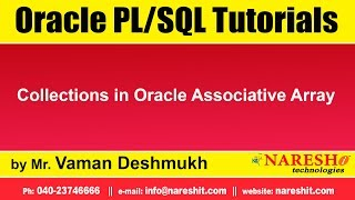 Oracle PL/SQL Tutorials | Collections in Oracle Associative Array  | by Mr.Vaman Deshmukh