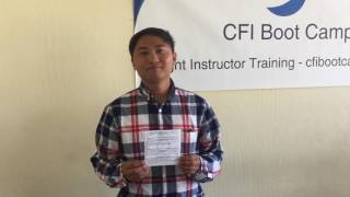 Carlo Espinosa Passes his CFI Practical Test with FAA Inspector