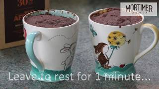10 Minute Chocolate Cake, Cake in a Mug, cooked in the Microwave