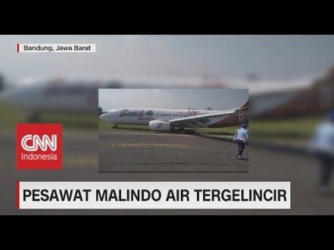 Pesawat Malindo Air Tergelincir