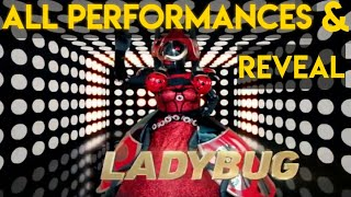 Masked Singer Ladybug All Performances & Reveal | Season 2 (All Episodes)