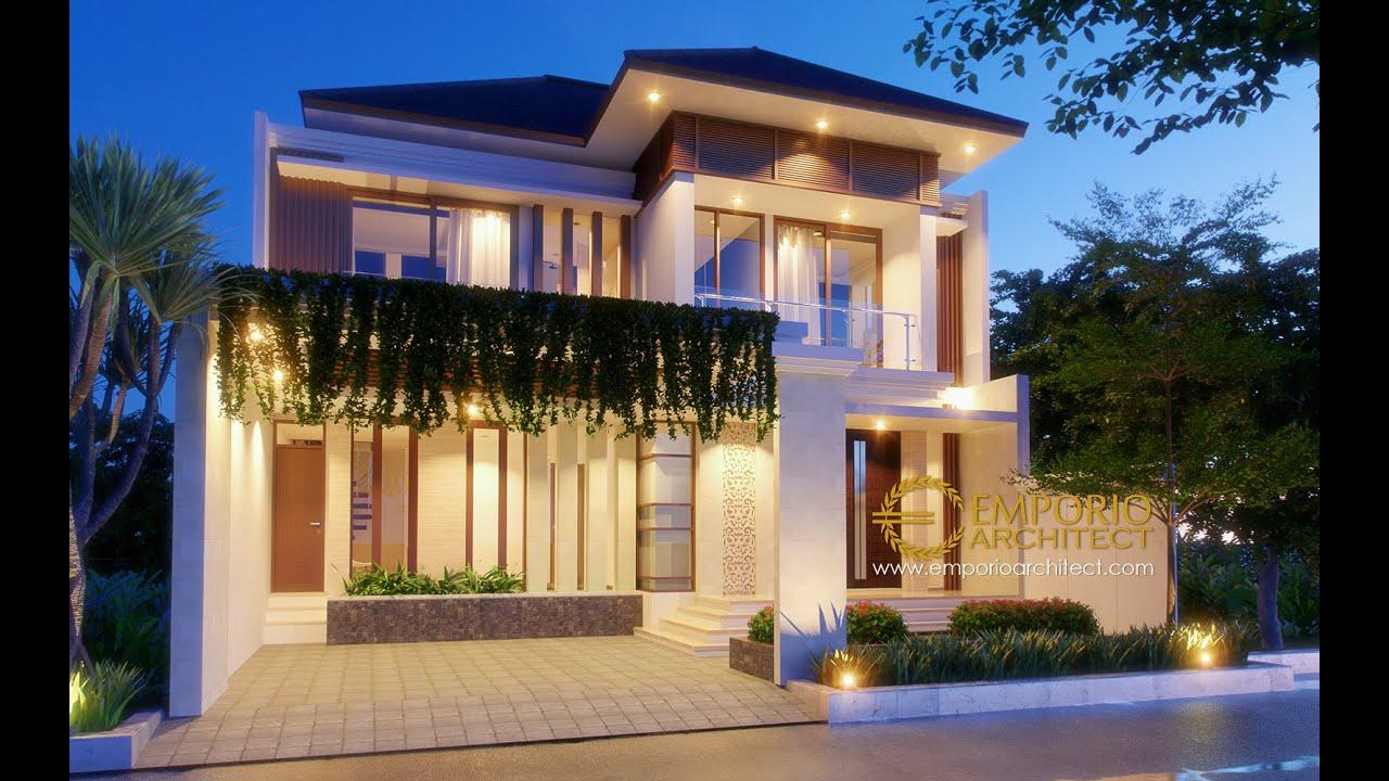 Video 3D Desain Rumah Villa Bali 2 Lantai Ibu Heny di Jakarta