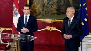 Austria's President Van der Bellen officially asks Sebastian Kurz to form new coalition government