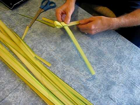 How To Make A Palm Sunday Frond Cross Video Instructions