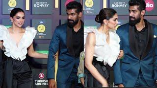 Deepika Padukone and Rana Daggubati BODY LANGUAGE On Mami Film Festival Closing Ceremony Red Carpet