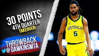 Patty Mills Full Highlights 2019.08.24 Boomers vs USA - 30 Pts, 4th QTR TakeOver!