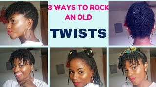 How to style an old twists in three(3) ways #twists #howto