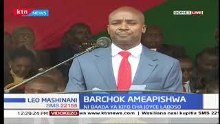Bomet County Governor Hillary Barchok\'s speech after taking oath of office