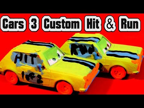 Pixar Cars 3 Custom Paint Hit And Run Crazy 8 Demolition Derby Cars With Primer Jeff Gorvette