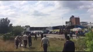 Стрілянина в Харківській області, біля ФГ «Строгого О.Ф», яке захватили невідомі в масках!