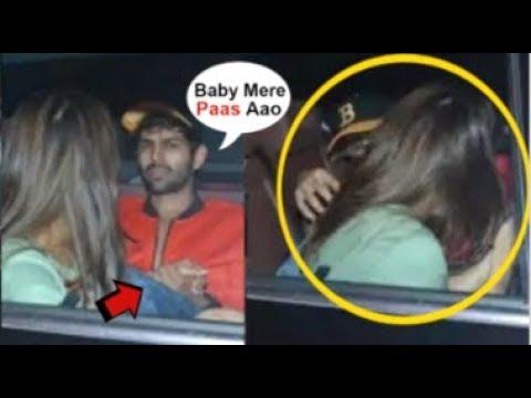 Sara Ali Khan & BOYFRIEND Kartik Aaryan Caught KISSING In The Car By Media