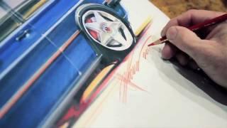 Chip Foose Zeichnet VW Golf 2 MK2 GTI VW Werbesport In Den USA