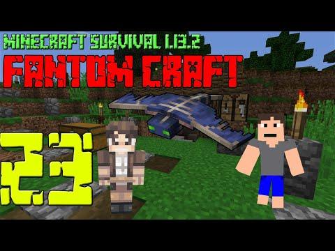 NOVÉ PLÁNY A STAVBY! Minecraft survival 1.13.2 - FANTOM CRAFT #23 /wNeoxitCz #metro #fantomcraft