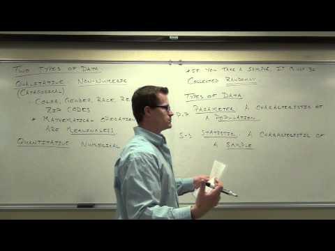 Statistics Lecture 1.3 Part 1