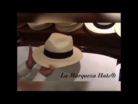 Reshaping, ironing a Montecristi Hat (Panama Hat) Straw hat care