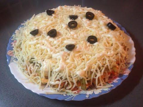 САЛАТ из ПЕЧЕНИ с соленым огурчиком / нежный салат с печенкой