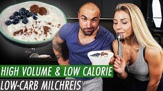 Low Carb Milchreis in 1min - Kalorienarm, proteinreich und sättigend