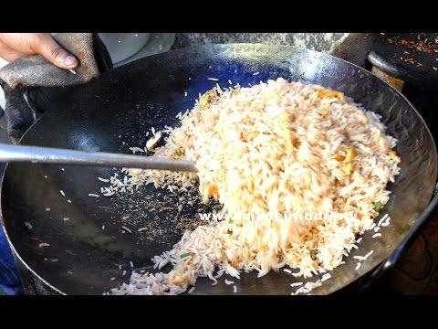 Chicken Fried Rice Making |  Restaurant style | STREET FOODS 2017