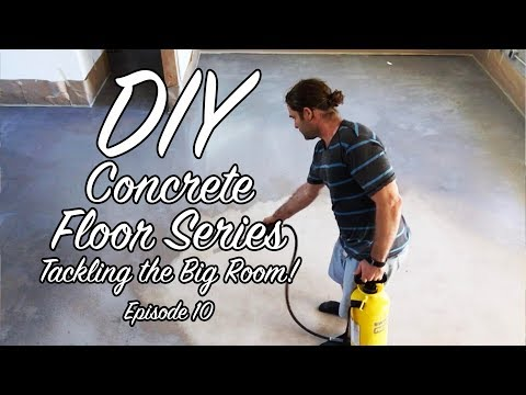 DIY Concrete Floor Series – EP10 – Tackling the Big Room